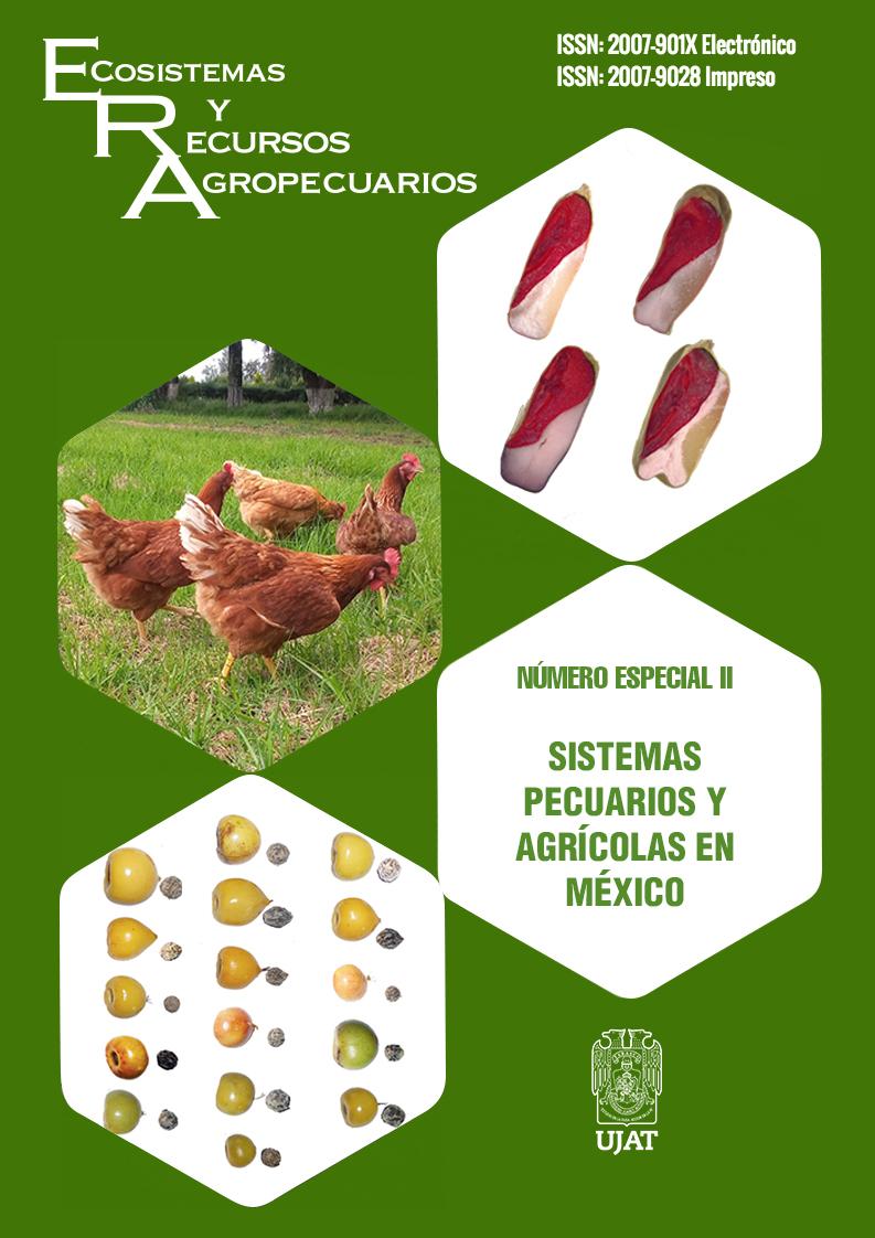 Ver Vol. 8 Núm. II (2021): Número Especial II Sistemas pecuarios y agrícolas en México
